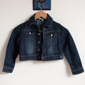DKNY Cropped Jean Jacket Girls Size 6
